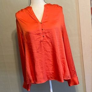 The LIMITED XL Orange Long Sleeve Shimmery blouse